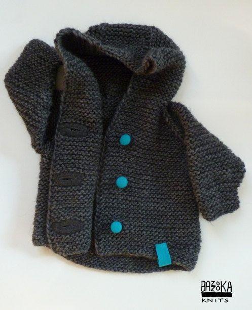 Knitted Alpaca&Merino wool baby hoodyjacket. Bazzooka by bazzooka, $45.00
