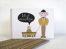 """""""Ich&mein Opa""""-Büchlein ♥♥♥Eine ganz persönliche Erinnerung von und für Enkel und Opas♥♥♥  Dieses Heft im Din A5 Querformat bietet Platz für gemeinsame Fotos, Gedanken und mehr.  Mit insgesamt 24 Seiten ist es nicht zu überladen, bietet aber trotzdem genügend Platz für die schönsten Erinnerungen.  Das Büchlein wird auf Recyclingpapier gedruckt.  Es ist eine tolle Geschenkidee für Opas von kleinen und grossen Enkelkindern :-)  8,95 € inkl. MwSt., zzgl. Versandkosten"""