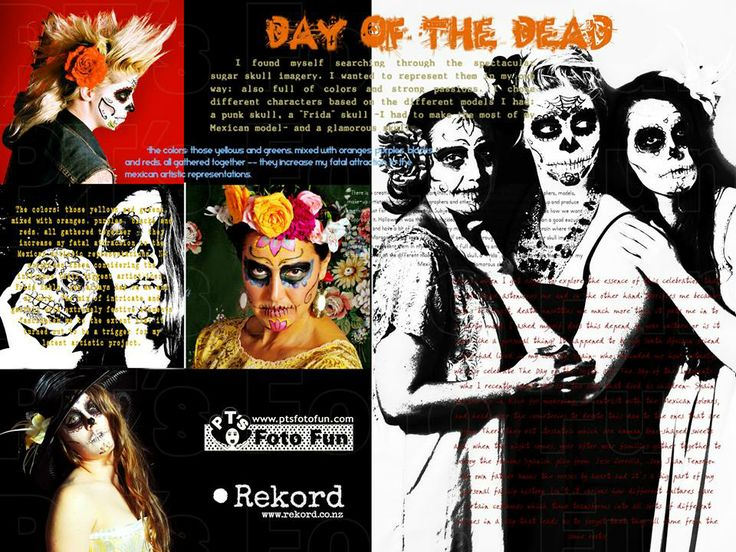 Day of the Dead article from PT´s Foto Fun (design, words and pictures)