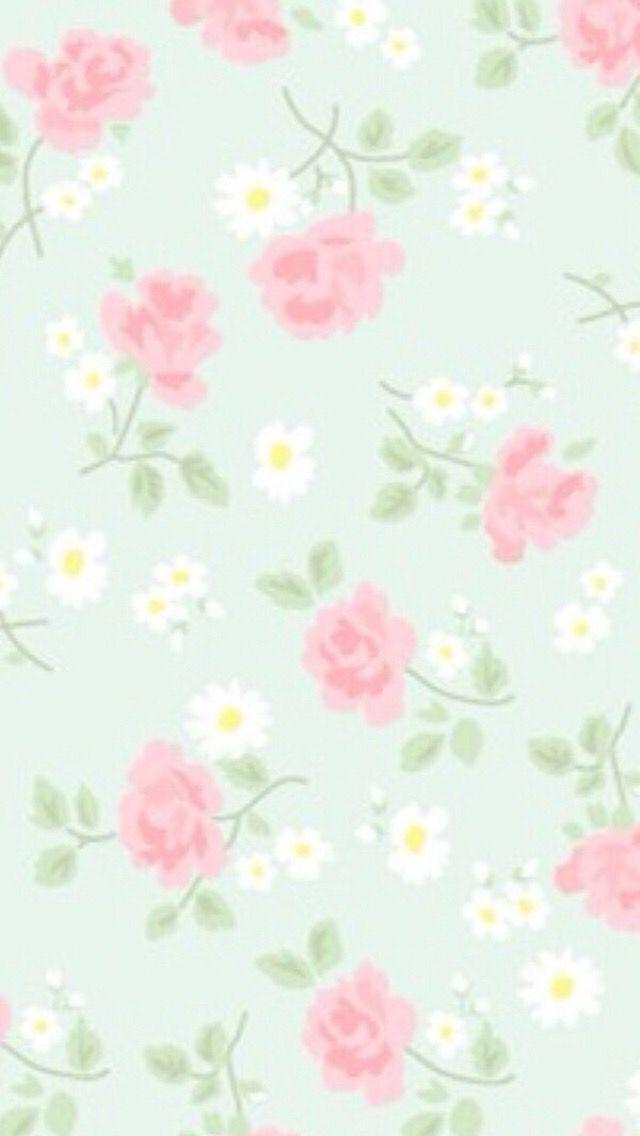 Pastel Floral Background Iphone Wallpaper Vintage Floral
