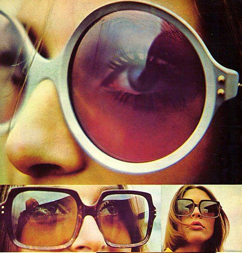 1970...bigger the better...We love seeing vintage glasses advertisements! For more info on glasses check out: https://visionsourcespecialists.com #vintage #cateye