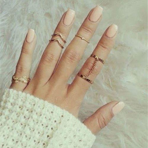 Mischievous Stackable Mid Finger Rings (6 pieces)