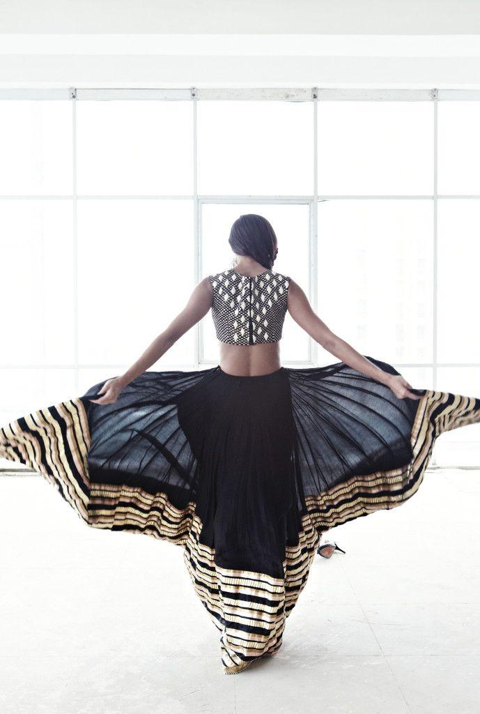 Sheer maxi lehenga skirt. Updated lehenga style.