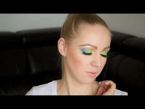 Fun & Colourful Makeup Tutorial (Full Face) - YouTube