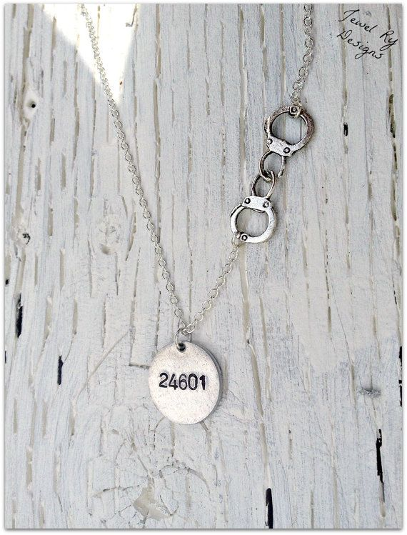 "Les Miserables ""24601"" Handcuffs Necklace (Sterling Upgrade Available)"