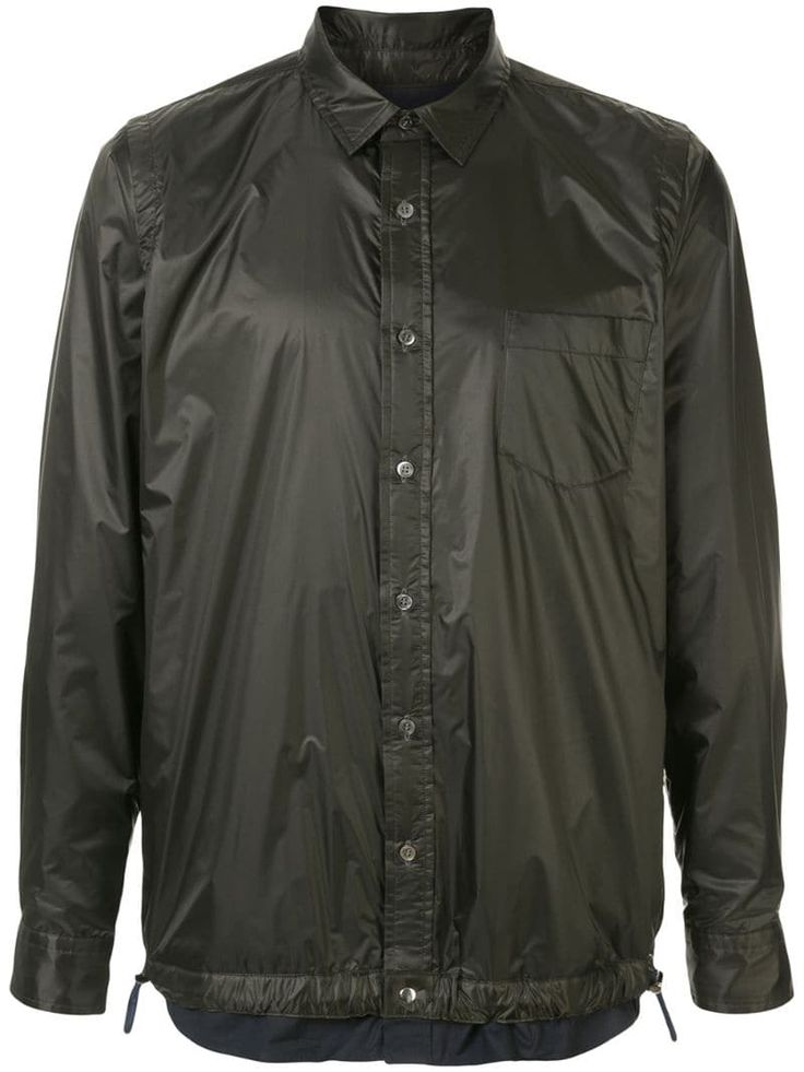 Sacai drawstring buttoned shirt – Black
