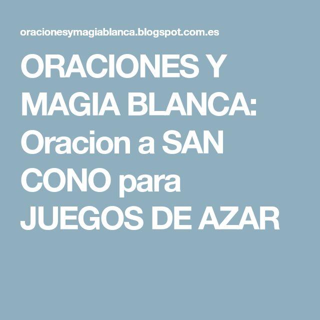 ORACIONES Y MAGIA BLANCA: Oracion a SAN CONO para JUEGOS DE AZAR