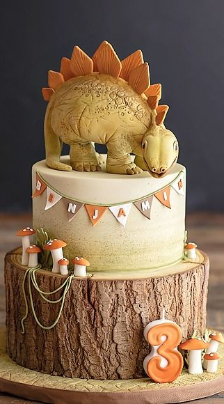 The Stegosaurus Dinosaur (who stole my heart) Cake