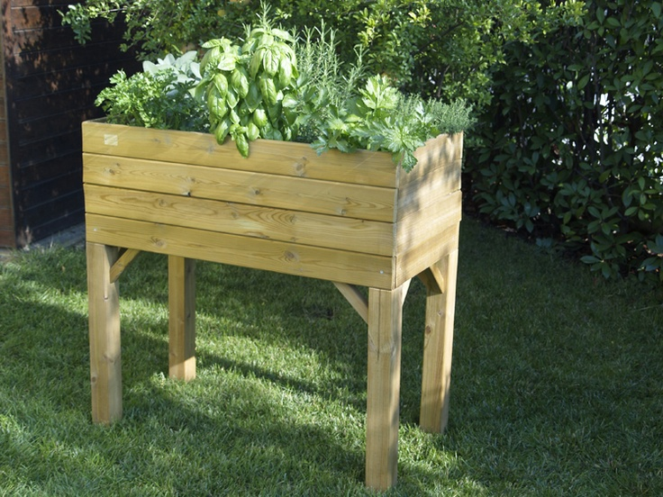 Ortolegno, raised wooden flower box in wood impregnated in autoclave ideal for also growing vegetables on a terrace or balcony