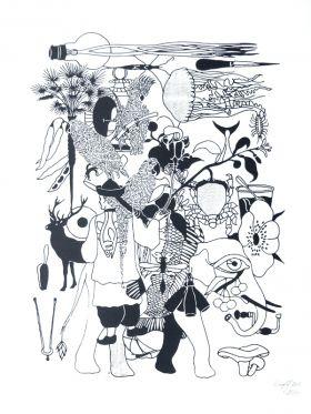 Karambolaj III Sérigraphie sur papier 300g