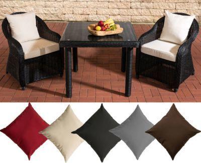 Polyrattan Sitzgruppe SAN JUAN, schwarz, Klarglas, 3 Tischgrößen wählen (2 Stühle INKL. bequemen Sitzauflagen + Esstisch) Jetzt bestellen unter: https://moebel.ladendirekt.de/garten/gartenmoebel/gartenmoebel-set/?uid=f29365db-6ed8-5b5a-8728-2078481783b7&utm_source=pinterest&utm_medium=pin&utm_campaign=boards #garten #gartenmoebel #gartenmoebelset