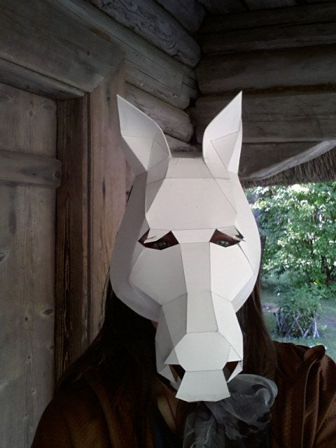Make your own Horse mask from cardboard Digital by GreenMindedWolf