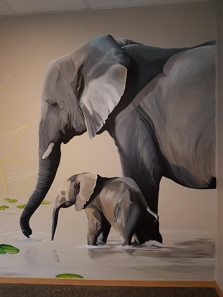 #mural#elephant#babyelephant