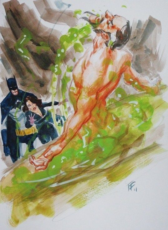 Batman, Talia and Ra's Al Ghul by Tom Fowler