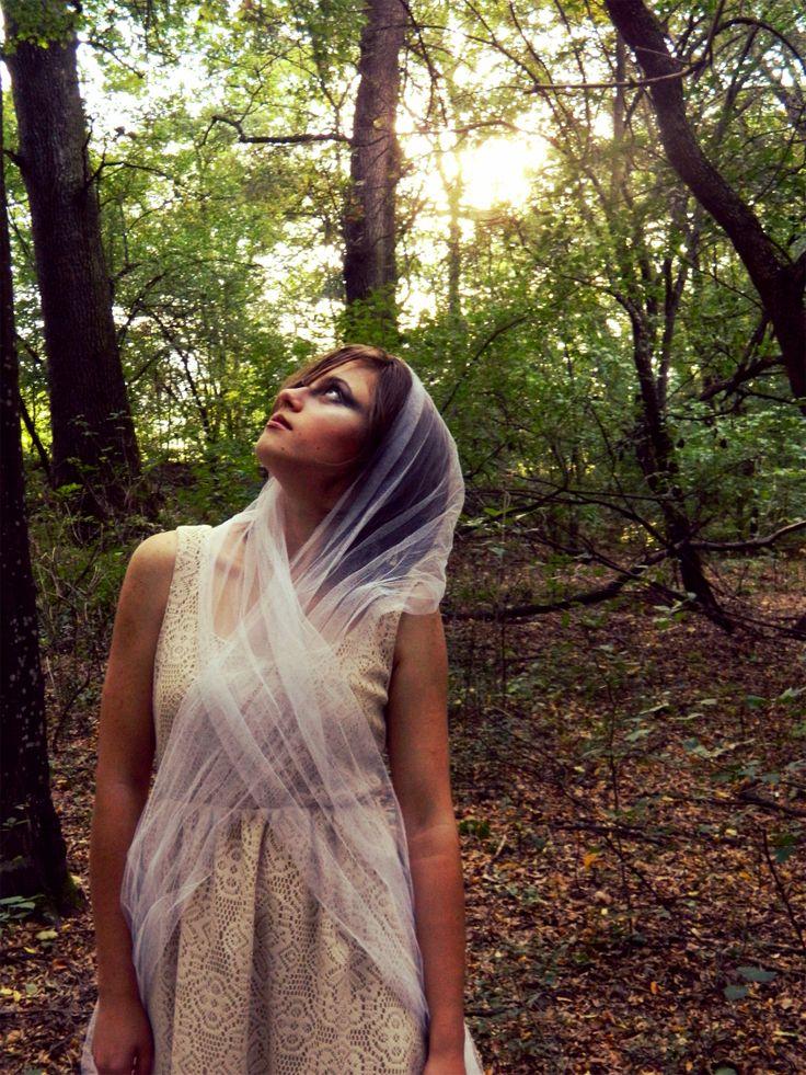 lace# veil# forest