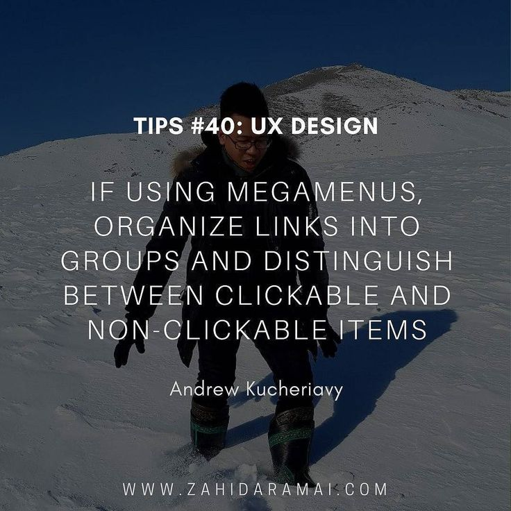 Top  Tips : No. 40 UX Design Follow @zahidaramaite for more  . . . . . . #quote #uxquote #mockup #website #webdesign #webdeveloper #wordpress #framework #design #coding #agency #creative #business #uxdesign #rekaweb #lamanweb #designer #coder #ux #ui #html #php #websitedesign #wordpressdesign #like4like #ig #userexperience #nodejs