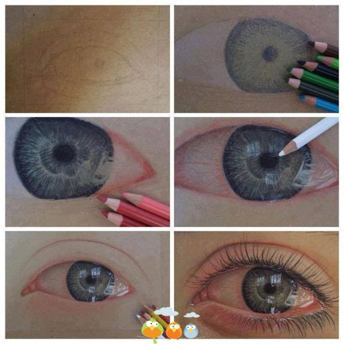 Drawing an eye.. step by step
