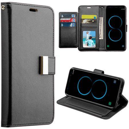 hot sale online 9b8f7 7dcdd Mundaze Storage Faux Leather Wallet Case for Samsung Galaxy S8 Plus ...