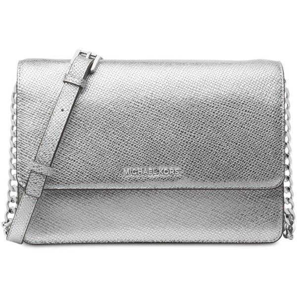 eb964c6c3898 Michael Michael Kors Large Gusset Crossbody (740 PEN) ❤ liked on Polyvore  featuring bags