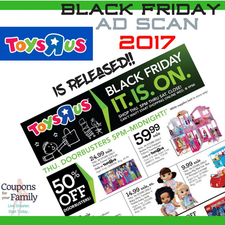 Check out this Toys R Us Black Friday Ad Scan and Top Deals 2017!! - http://www.couponsforyourfamily.com/toys-r-us-black-friday-ad/