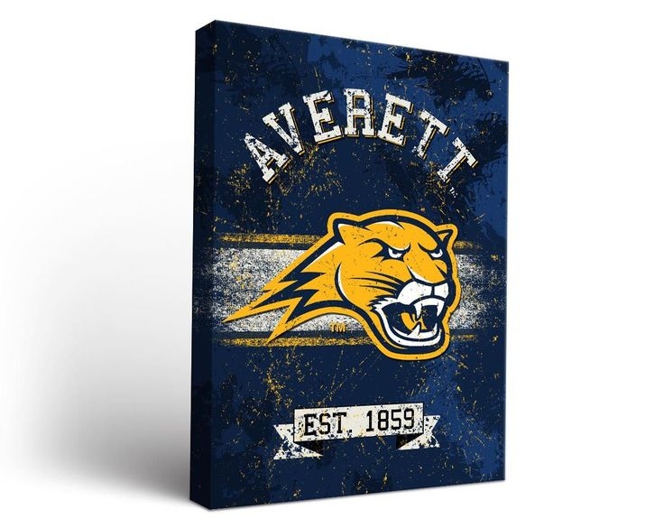 Averett University Cougars Classic Canvas Wall Art Rectangle