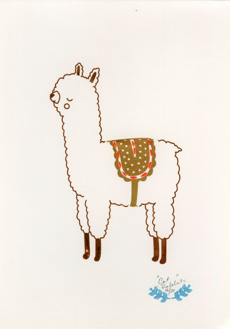 llama... for a wolfie bear project