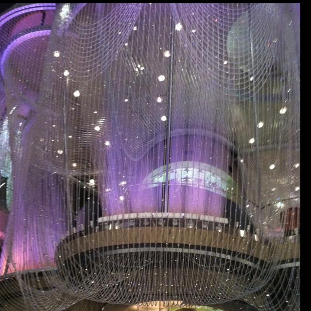 Chandelier room at the Cosmopolitan Vegas