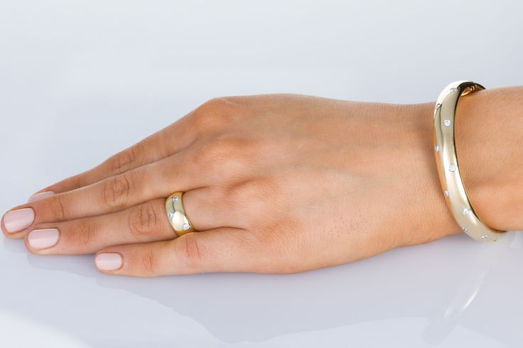 Tiffany & Co Etoile Collection, 18k yellow gold, platinum and diamonds ring and bangle. Check out 1st Dibs-The Jewellery Trading Company for the details