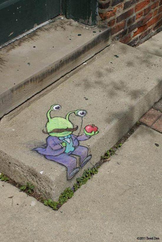Best Art On The Street David Zinn Images On Pinterest - David zinns 3d chalk art adorably creative