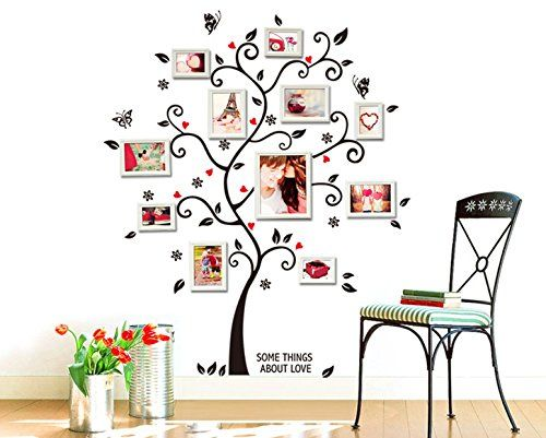 UfingoDecor Immagine Creativa Albero Photo Frame Adesivi Murali, Camera da Letto Soggiorno Adesivi da Parete Removibili/Stickers Murali/Decorazione Murale UfingoDecor http://www.amazon.it/dp/B00LFPCV7O/ref=cm_sw_r_pi_dp_BE-iub0X1X3KR
