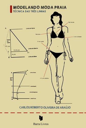 """Os biquínis invadiram as passarelas há poucos anos e despertam hoje o desejo da mulher em expor o seu corpo, a sua beleza, como ela é. E a profissão de modelista de moda praia se desdobra para realçar as formas do corpo feminino - tarefa que, por envolver o uso de tão pequenas partes de tecido com fio de Lycra, se torna um enorme desafio.  A obra leva o título """"Modelando Moda praia - A técnica das três linhas"""" justamente por estar vinculada a uma técnica de fabricação de beachwear que parte…"""