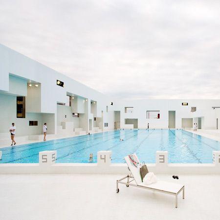 Les Bains des Docks is an aquatic centre in Le Havre, France | French architect Jean Nouvel
