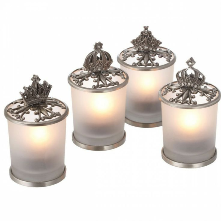Antique Pewter Crown Tealight Candle Holder 291504 Pewter