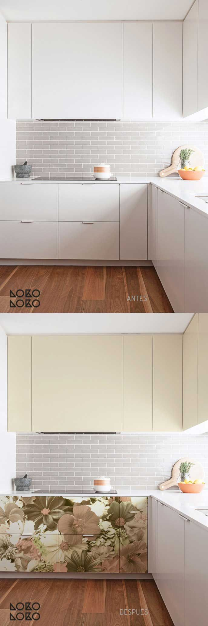 Forrar armarios cocina interesting armario de cocina by - Como forrar muebles de cocina ...
