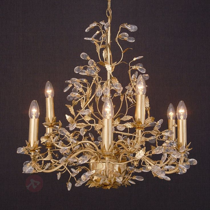 Kostbar Buono lysekrone i gull og med ni lys 4512326
