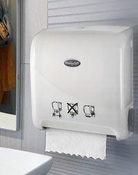 DOZOWNIKI I WYPOSAŻENIE TOALET - Dozownik mydła w płynie pojemność 1l. biały to najlepsze produkty w swojej kateg -
