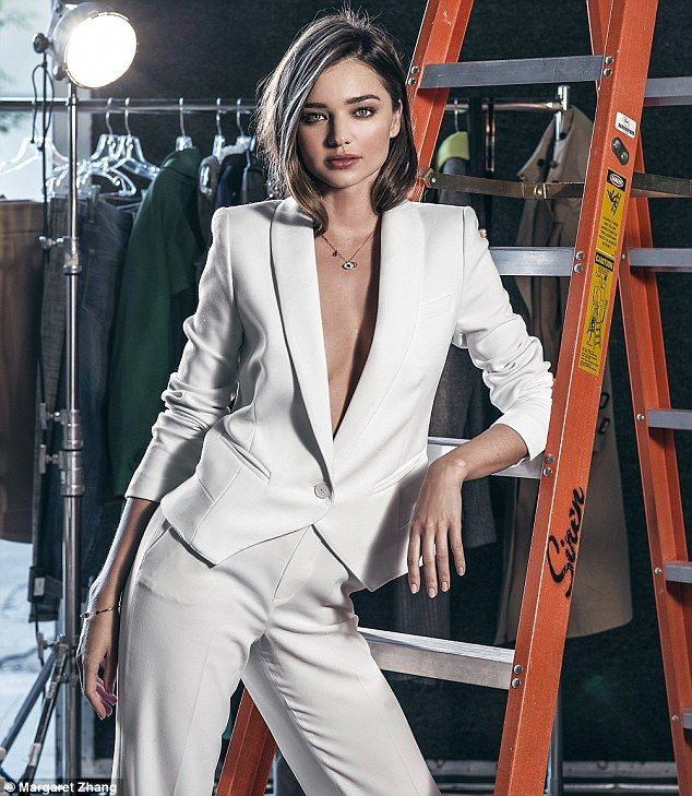 'I would never be able to work in an office. I am easily distracted by things like phones vibrating or people talking or whatnot,' said Miranda Kerr (wearing necklace, £59, Miranda Kerr for Swarovski)