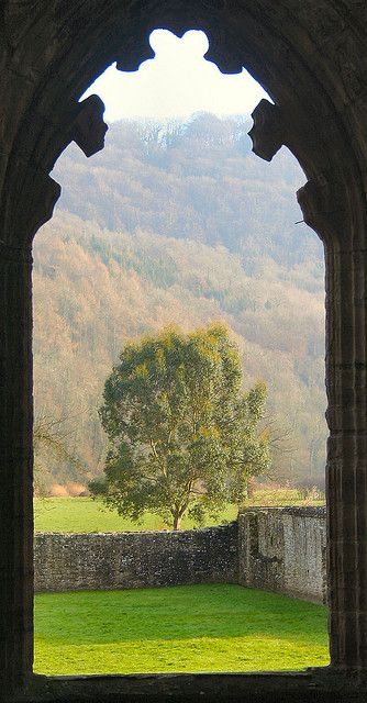 Ruins of Tintern Abbey, Wales: Through the Window   - Explore the World with Travel Nerd Nici, one Country at a Time. http://TravelNerdNici.com