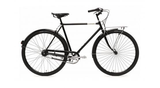 Bicicleta urbana Creme Caferacer Doppio 7-speed negro para hombre