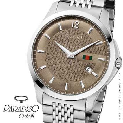 #GucciOrologioTimeless! Dal #fascino immediato e dal forte carattere maschile!  #Watchs http://www.paradisogioielli.com/it/solo-tempo/522-gucci-interlocking-orologio.html