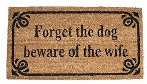 Humour Paillasson Essuie-Pieds - Forget The Dog, Beware Of The Wife, Retro Style (70 x 40 cm) 1art1® http://www.amazon.fr/dp/B00JGS1FJM/ref=cm_sw_r_pi_dp_UhRDvb0W7GF8X