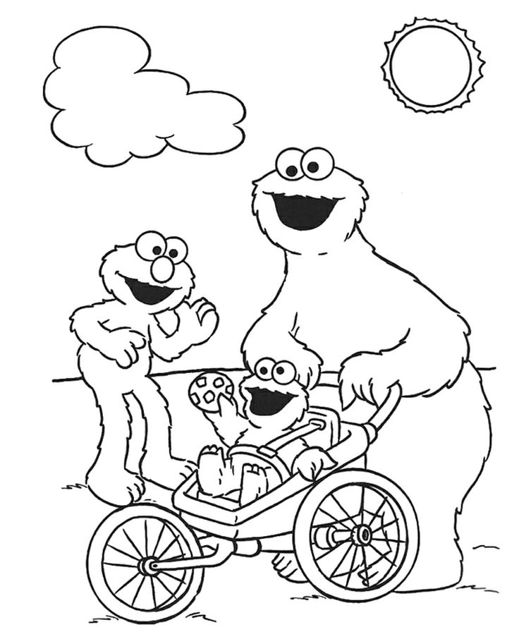353 best coloring pages images on pinterest | coloring sheets ... - Baby Cookie Monster Coloring Pages