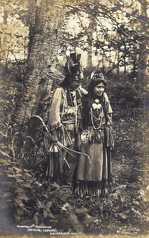 Seneca Indian couple from 1906 in New York