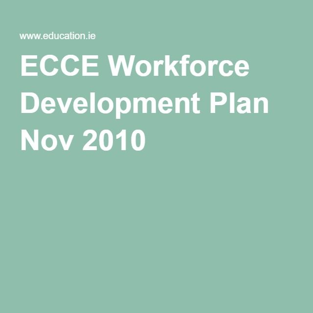 ECCE Workforce Development Plan Nov 2010