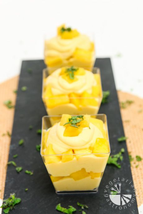 Mango Mousse Parfait (v,gf) - Vegetarian Gastronomy