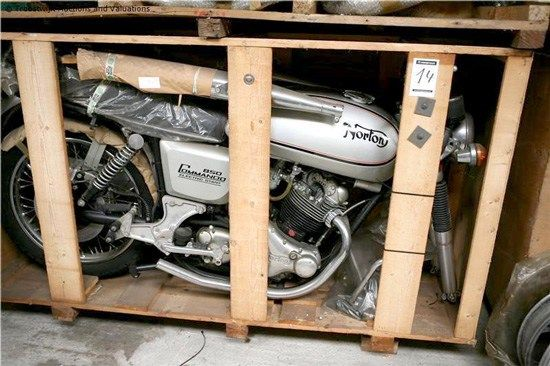 "A ""brand new"" 1975 Norton Commando Interstate still in its crate, one of 11 found recently in Belgium Here's something you don't come across every day: 11 brand new 1975 electric-start Norton Interstate motorcycles, still in the crate and awaiting final assembly! The horde of Nortons came"