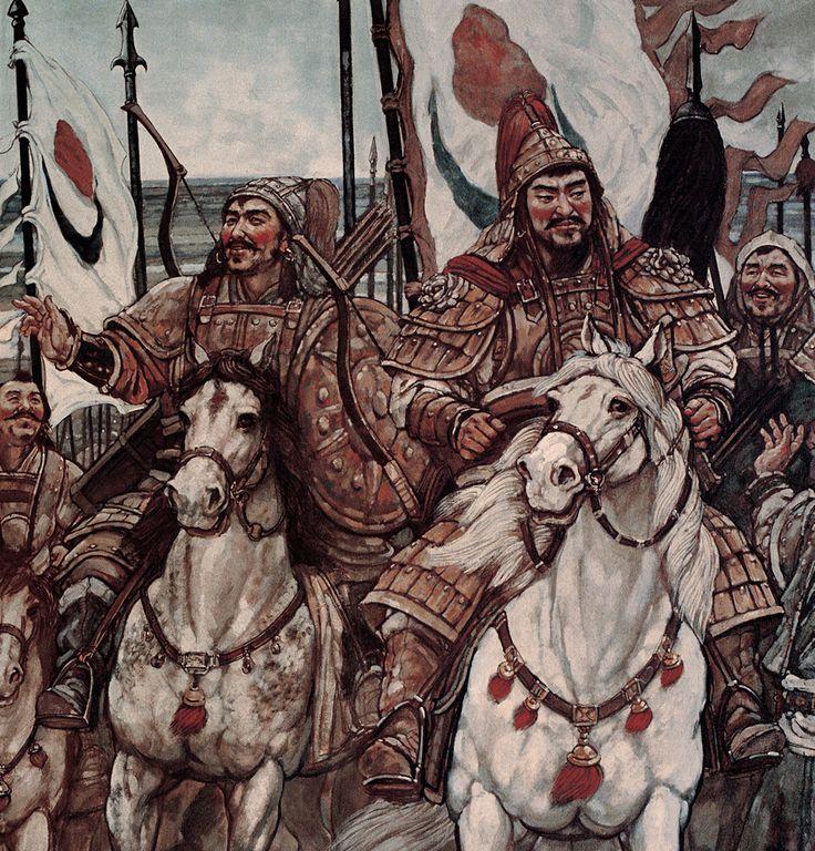 """104 Sun Jingbo, """"The Great Man – Genhis Khan – Mongolian Heroes"""", 320 x 838 cm, 2006 (detail)"""