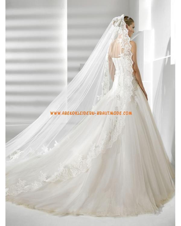 ... Brautkleider mit Spitze Meerjungfrau mit langer Schleppe sexy korsage