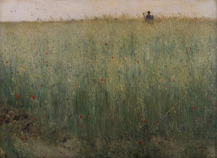 """""""Field of Oats at Grez"""" by Karl Nordström via DailyArt app, your daily dose of art getdailyart.com"""