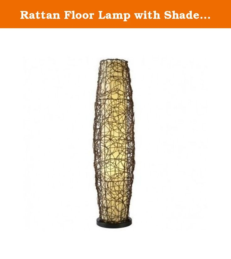 Rattan Floor Lamp with Shade Two Light. The antique bronze floor lamp comes with a cool rattan design shade and adds a real contemporary feel to your home decor. With a floor standing design and a two light fixture, this two light floor lamp will add a warm and stylish touch to your home or cottage.